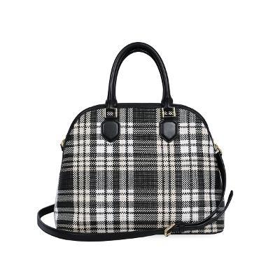 check pattern hand bag